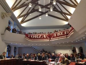 Gemeinderatsitzung in Freiburg zum Thema Stadion-Neubau